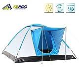 SEMOO Familienzelt, Wasserdichte und UV-Schutz Iglu-Zelt , Silber beschichtete Faser, Camping Zelt für 3 Personen