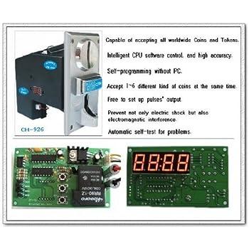 Coin Operated Timer Controller Board Multi Coin Acceptor Selector