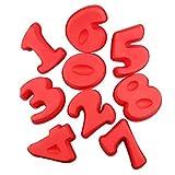 yunso Silikon-Nummernkuchenformen 0-9, Spezial-Nummernkuchenformen Backformen zum Geburtstagsjubiläum L A Set