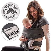 Portabebés 100% Orgánico | Fular Para Bebé | Niños Pequeños | Recién Nacidos | Portabebé Respirable | Algodón Orgánico Certificado | Pañuelo Ergonómico | Bandolera | Alternativa A La Mochila | Por Laleni
