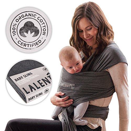 Portabebés 100% Orgánico | Fular Para Bebé | Niños Pequeños | Recién Nacidos | Portabebé Respirable | Algodón Orgánico Certificado...