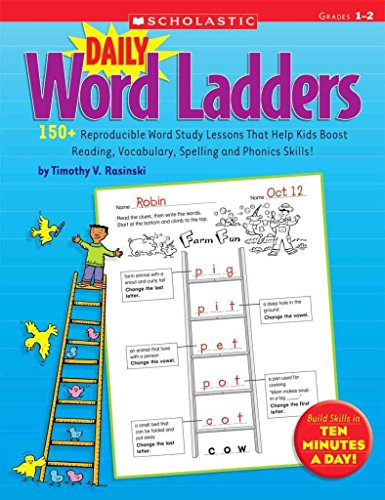 [Daily Word Ladders: Grades 1-2: 150+ Reproducible Word Study Lessons That Help Kids Boost Reading, Vocabulary, Spelling and Phonics Skills!] (By: Timothy V Rasinski) [published: November, 2008]