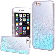 WE LOVE CASE iPhone 6 Plus / 6s Plus Cover Glitter Transparente Quicksand Liquido Diamante Amore Stella iPhone 6 Plus / 6s Plus Custodia Blu Case Hard con TPU Silicone Backcover , Rigida Bumper Elegant Belle Protettiva Protezione , Antiurto Ultraslim Coperture , Girl Brillantini Donna Case perApple iPhone 6 Plus / 6s Plus 5,5""