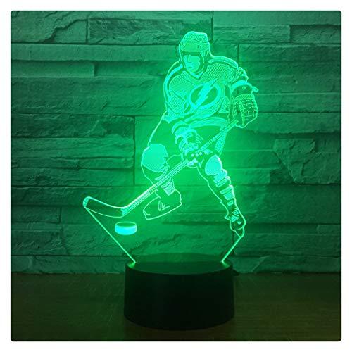 Ice Hockey Game 3D 7 Farbe Lampe Visuelle Led-Nachtlichter Für Kinder Touch Usb,Remote Touch