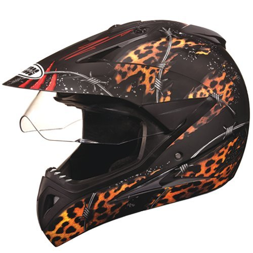 Studds Motocross D1 Helmet With Visor (Matt Black N12, L)
