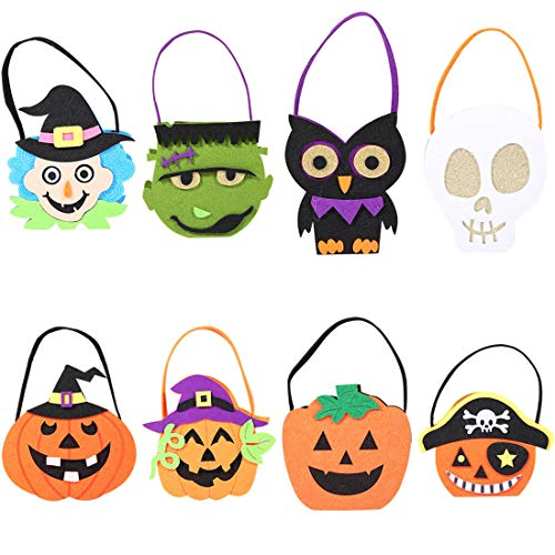 VJUKUBWINE Halloween Portable Stoffbeutel Ghost Festival Children Es Decoration Requisiten Spielzeug Dress up Accessoires Kürbis Beutel Geschenktasche Candy Bag Requisiten Tasche 8 ()