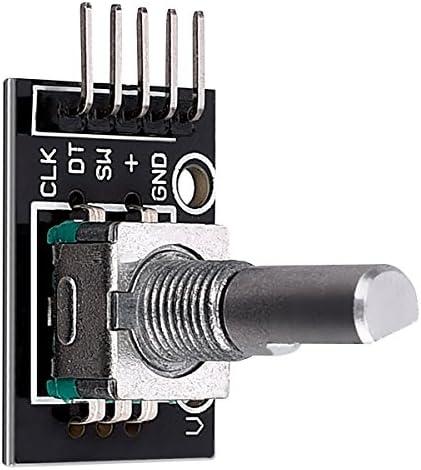 kwmobile Encodeur Encodeur Encodeur Rotatif KY-040 - Module encodage Bouton Poussoir - 20 Positions - Rotary Encoder 15 x 16,5 mm - Compatible Arduino Raspberry Pi | Une Performance Supérieure  10285a