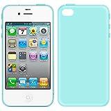 ebestStar - Coque iPhone 4S, 4 - Housse Coque Silicone Gel Souple ULTRA FINE INVISIBLE, Couleur Bleu [Dimensions PRECISES de votre appareil : 115.2 x 58.6 x 9.3 mm, écran 3.5'']