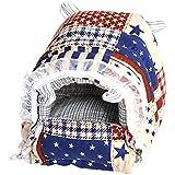 Rrimin Cotton Hedgehog Pet Hamster Mat Cage/House/Nest for Rat, Mouse DIY Bed, Small(Multicolour, 113520)