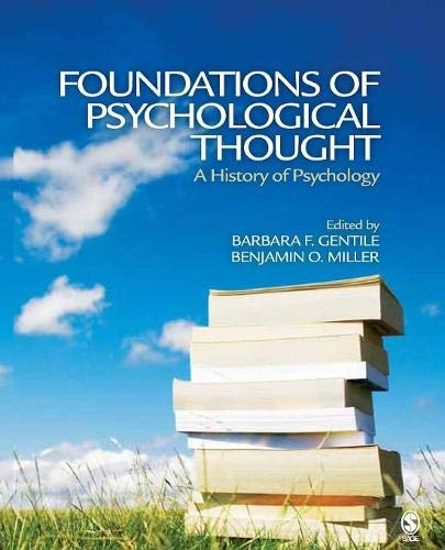 Foundations of Psychological Thought: A History of Psychology: 0 por Barbara F Gentile