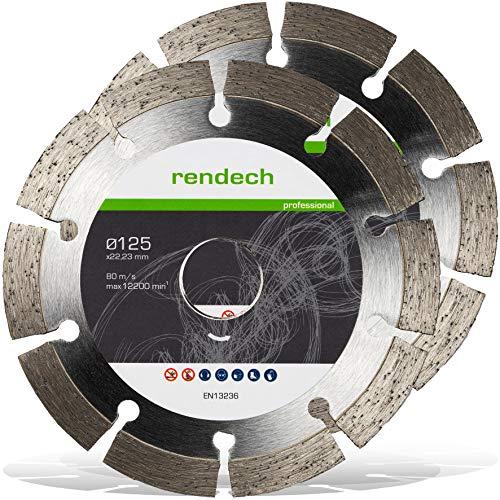 2x Diamanttrennscheibe 125 mm x 22,23mm - Universal für Beton, Granit, Stein, Pflaster uvm. - Diamant Trennscheibe in Profi Qualität (2er Pack)