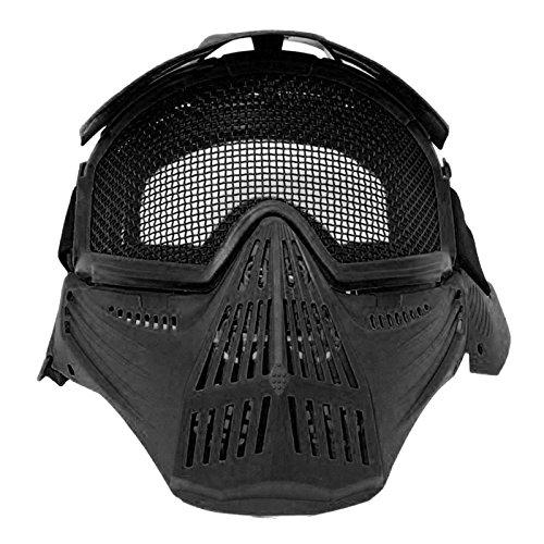 Maske Soft Air Black Cap Netzwerk mit Total Face Airsoft Zubehör
