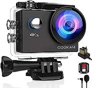 GOOKAM 4K Action Cam 20MP WiFi Telecomando Fotocamera Subacquea Impermeabile 40M Sott'Acqua Sports Camera