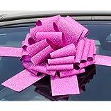 géant de voiture Nœud (30,5cm) pour voitures, motos, Big anniversaire et cadeaux de Noël–Paillettes Rose