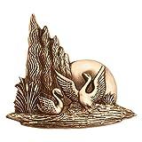 AmazinGrave - Dekorative Ornamenten Verschiedene, Grabdekorationen für Grabsteine Anwendung - Ornament für Grabstein 7x18cm - Grabschmuck Messing 3171