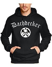 DACHDECKER roofing skull T-Shirt oder Kapuzensweatshirt, schwarz Gr.S M L XL XXL XXXL
