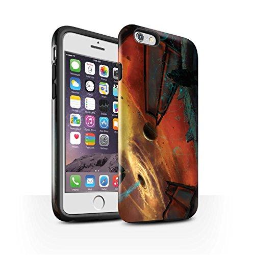 Offiziell Chris Cold Hülle / Glanz Harten Stoßfest Case für Apple iPhone 6S / Pack 6pcs Muster / Galaktische Welt Kollektion Schwarzes Loch
