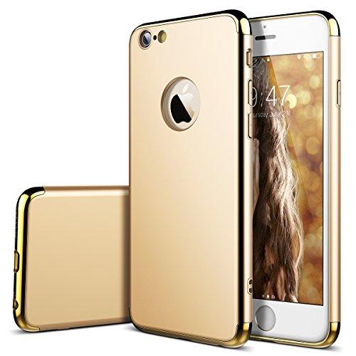SMART LEGEND iPhone 6S Hülle iPhone 6 Hardcase 3 Teilig Styliche Extra Dünne Harte Schutzhülle Gold [CLIP-ON] Hartschale für iPhone 6/6S(4.7