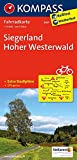 Siegerland, Hoher Westerwald: Fahrradkarte. GPS-genau. 1:70000 (KOMPASS-Fahrradkarten Deutschland, Band 3057)