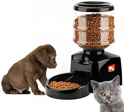 L.TSA automatischer Tierfutterautomat, Hund, Katze, Wasserfutter, 5,5 l, große Kapazität, beschreibbare Sprachsendung, sicher, umweltfreundlich (mit Wasserkocher-Batterie)