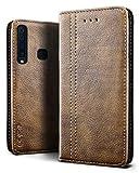 SLEO Case for Samsung Galaxy A9 (2018) Case, Retro Wallet