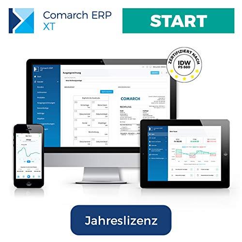 Comarch ERP XT - einfaches Rechnungsprogramm für Kleinunternehmer, Selbständige, Freelancer, Handwerker, Dienstleister - aus der Cloud - viele Funktionen - Paket START (Jahreslizenz)