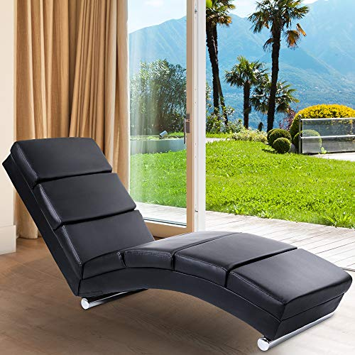 Miadomodo Sdraio Chaise Longue | 154x51x73 cm, in Similpelle, Imbottito, 7 Cuscini di Appoggio | Lettino Relax, Sedia a Sdraio Chaise Lounge