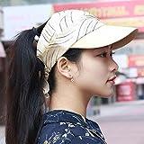 SAIBANGZI Hat Chapeau Femme Chapeau D'Été Chapeau Haut Ciel Soleil Lady Casque Équitation Location Cap Cap Cap Baseball Éclairage Blanc...