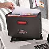 Expanding File Organiser – Redvers Office A4 13 Part Desk Storage Expander with Free Document Wallet Folder – Built to Last Strong Plastic Concertina for Home or Office Documents – A4 Conference / Portfolio Folders Included with Paper Pocket – Document Folder / Ring Binder – Use Like a Filing / File Box
