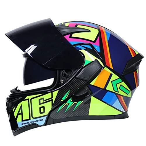 Männer Modulare Motorradhelm Frauen Flip Full Face Racing Helm Doppel Objektiv Anti Fog Motocross Helme Professionelle Racing Off Road Motorrad Sicherheitskappen - Helm Lazer Motorrad