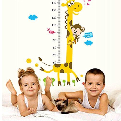 Asiv Giraffa Scimmia Stile Rimovibile Wall Stickers Carta da Parati Crescita Grafico Bambini Camera da Letto Decor Living Room Decor