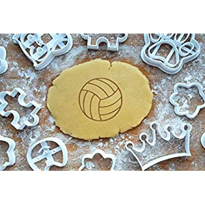 Volleyball Ausstechform 5cm Präge-Ausstecher Sport 3D Keksausstecher Backen Plätzchen Cookie Cutter Fondant