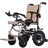 EMOGA Electric Powered Wheelchair Folding Lightweight 16Kg,Seat Width 45Cm,Removable Lithium Battery Mobility Chair,Motorized Wheelchairs,Handrail Adjustable 6 Files