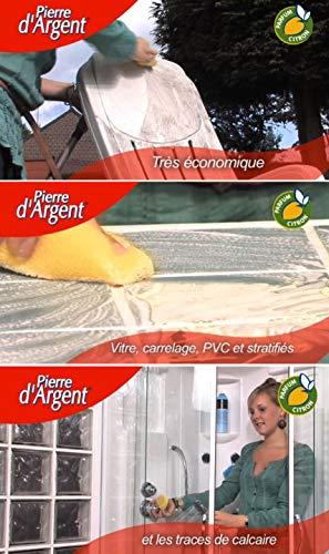 La Pierre d'Argent ® 500 GR + Maxi Eponge Alvéolée - Un produit naturel à base d'argile : on n'a jamais fait mieux pour tout nettoyer et protéger en même temps !