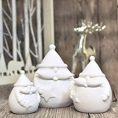 Victor's workshop 3 pezzi bianco decorazioni natalizie angelo figura in ceramica bianco natale decorazioni tavola