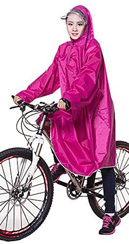 Icegrey Adulti Impermeabile Poncho Leggero PVC Lunghi Altezza Impermeabile Con cappuccio Della Bicicletta Pioggia Poncho Con Maniche Rosso Rose