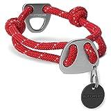 Ruffwear Seil-Halsband für Hunde, Große bis sehr große Hunderassen, Größenverstellbar, Reflektorstreifen, Größe: L (51-66 cm), Rot (Red Currant), Knot-a-Collar, 25601-615L