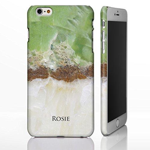 Coque personnalisée pour téléphone avec motif marbré et nom ou initiales gravées Coque pour iPhone avec brillance de pierre naturelle Design sur mesure par iCaseDesigner., plastique, Marble 20: Beige  Marble 1: Green and Cream Quartz