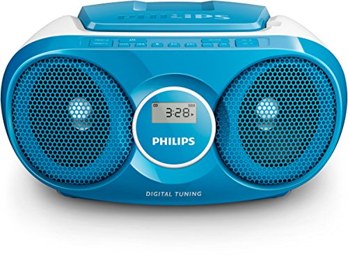 Philips AZ215N CD-Soundmachine (Digital UKW, Audioeingang, 3 Watt, leicht bedienbar) blau