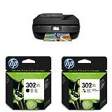 HP OfficeJet 4655 Multifunktionsdrucker (Drucker, Scanner, Kopierer, Faxen, USB, 4.800 x 1.200 dpi) schwarz mit passenden Original Patronen