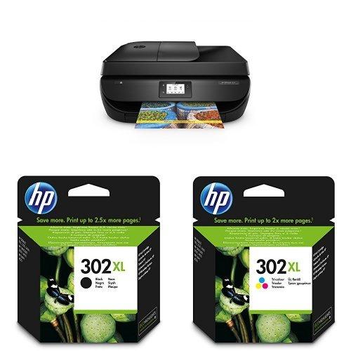 Preisvergleich Produktbild HP OfficeJet 4655 Multifunktionsdrucker (Drucker, Scanner, Kopierer, Faxen, USB, 4.800 x 1.200 dpi) schwarz mit passenden Original Patronen