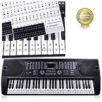 Pegatinas para pianos o teclados,Pegatinas para teclados,Etiqueta engomada del teclado de piano