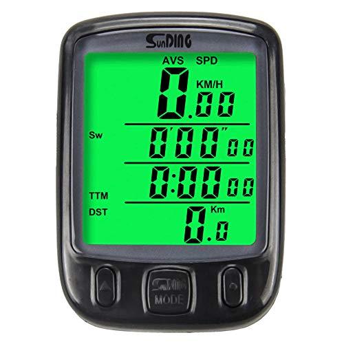 CULASIGN Fahrradcomputer Fahrradtacho LCD-Hintergrundbeleuchtung Wasserdicht Radcomputer Tachometer Kilometerzähler Radsport Realtime Speed Track -
