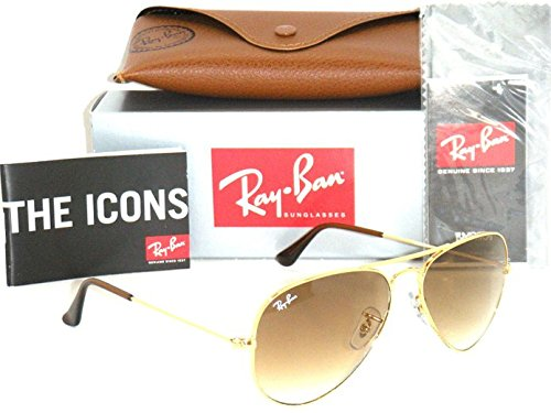 Ray-Ban Aviator 3025 RB 3025 001/51 58mm Gold Frame with Brown Gradient Medium