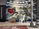 'Komar 8-4031Papier peint photo en papier'Thor and Hulk, Taille 368x 254cm (Largeur x hauteur), 8pièces, avec, colle fabriqué en Allemagne, multicolore
