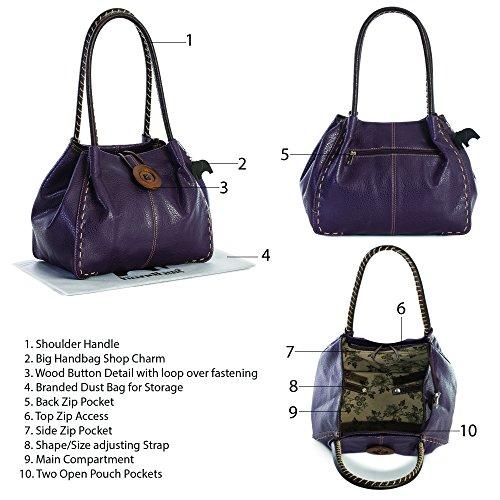 4 Navy PU spalla a Blu Handbag Borsa donna Shop One grado Big qw1RvZ