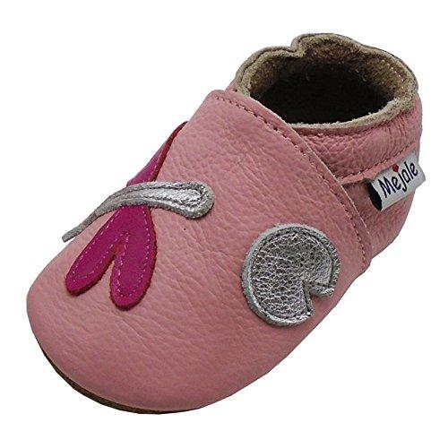 Mejale Chaussures Bébé - Chaussons Bébé - Chaussons Cuir Souple - Chaussures Cuir Souple - Chaussures Premiers Pas - Chaussures Bébé Fille - 0-6 Mois 6-12 Mois 12-18 Mois 18-24 Mois 24-36 Mois