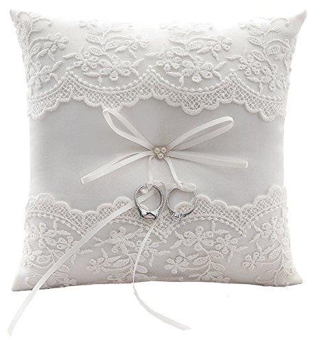almohada cojín con flores y lazo 21cm * 21cm