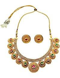Traditional Gold Plated Necklace Set For Women Jewellery