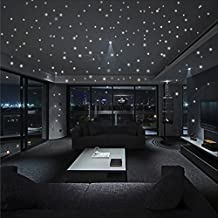 Kicode 407pcs Brillan en la oscuridad Redondas Dot estrellas Luminosa pegatinas de pared Kids Room Decor
